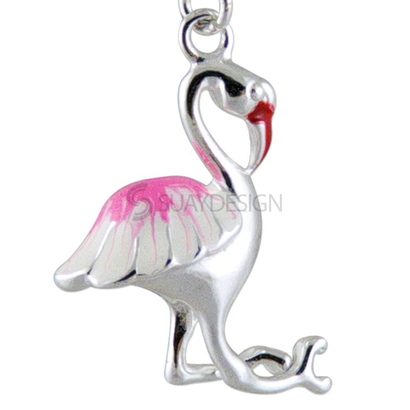 Women's Silver Flamingo Charm