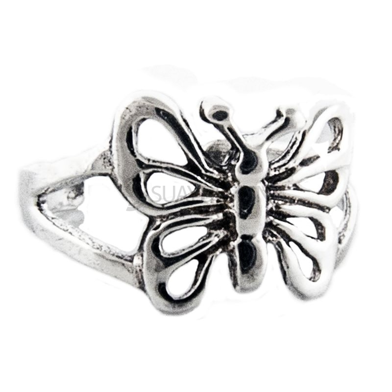 Women's Silver Butterfly Toe Ring