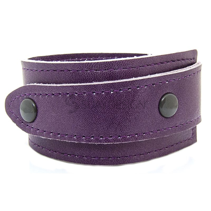 Asymmetric Soft Purple Leather Bracelet