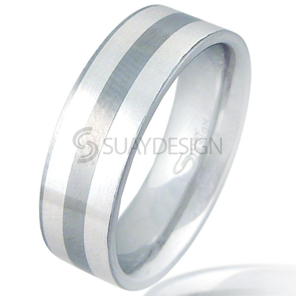 Women's Pursuit Steel & Silver Ring