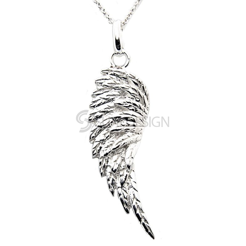 Women's Sterling Silver Angel Wing Necklace
