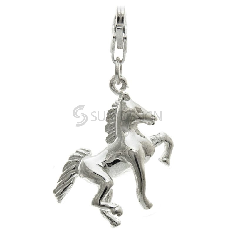 Women's Silver Horse Clip on Charm