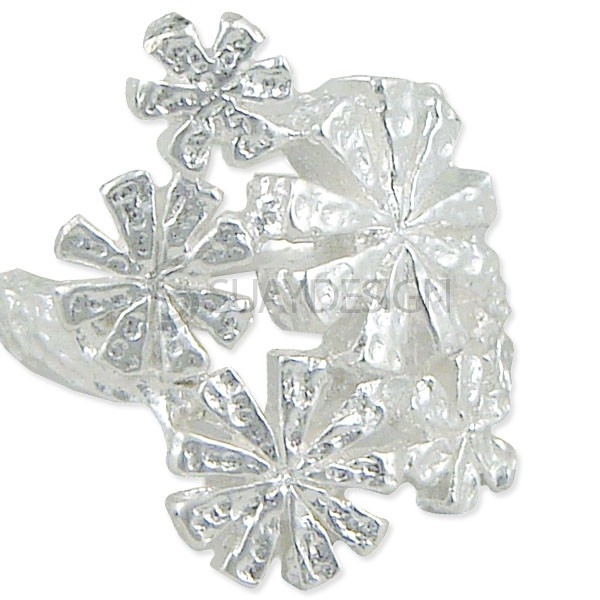 Women's Snowflake Silver Ring