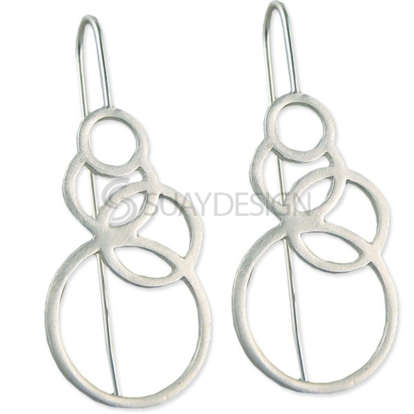 Women's Eternal Silver Earrings