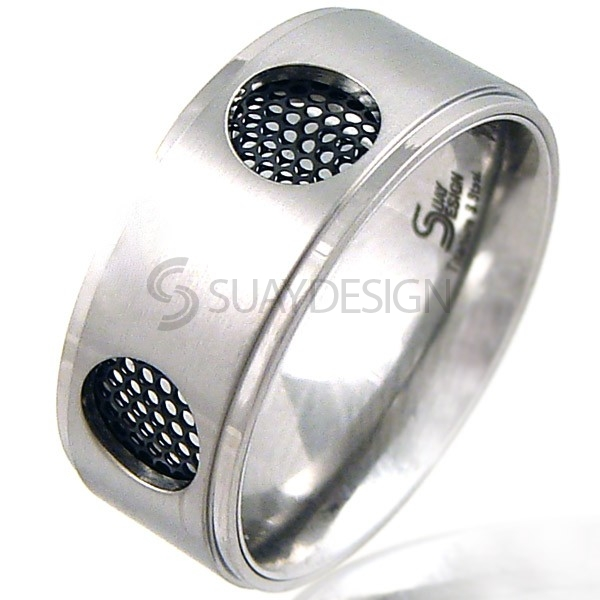 Women's Dynamo Titanium & Steel Ring