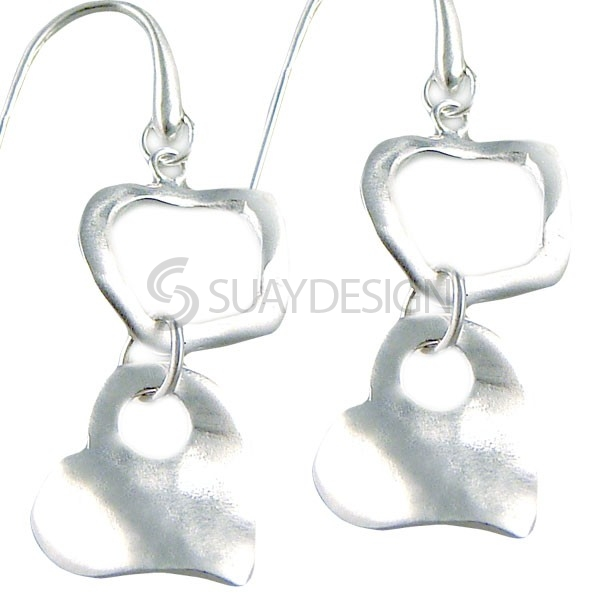 Women's Sweetheart Silver Earrings