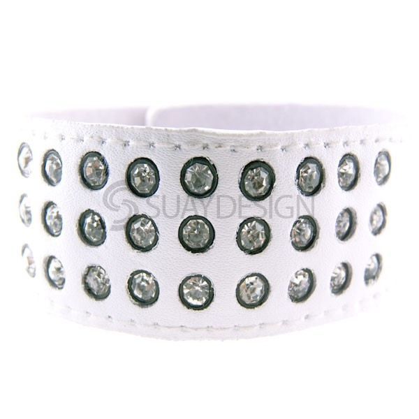 Angel Blanco Leather Cuff
