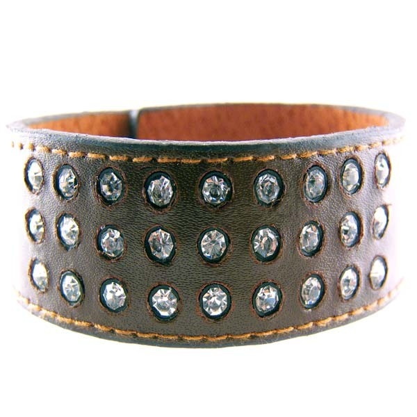 Women's Angel Cocoa Leather Cuff