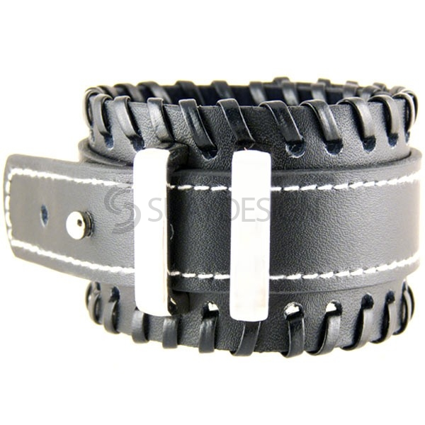 Women's Mayfair Black Leather Cuff
