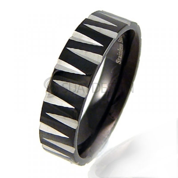 Women's Moderna Noire Steel Ring