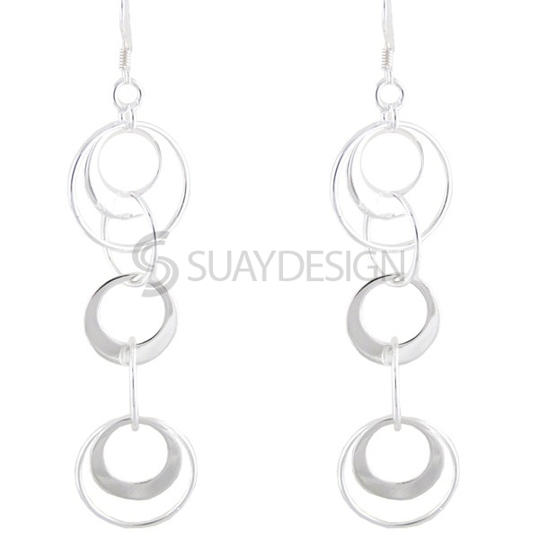 Women's Cirque De Silver Earrings