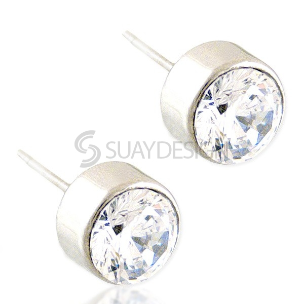 Women's Beam 7mm Stud Earrings