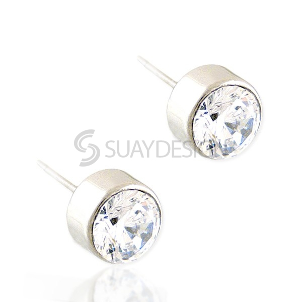Women's Beam 5mm Stud Earrings