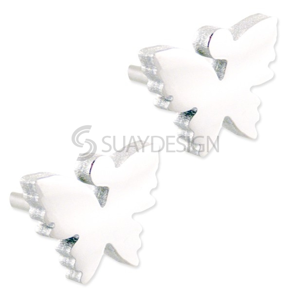 Women's Steel Butterfly Stud Earrings