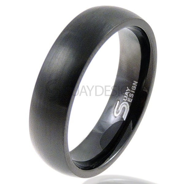 Lust 6 Black Titanium Ring