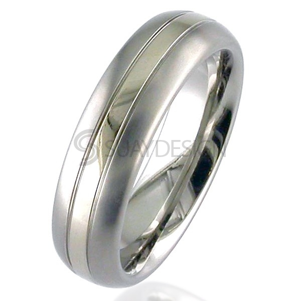 Gold Inlaid Titanium Ring 2210G-1.5MM18KW