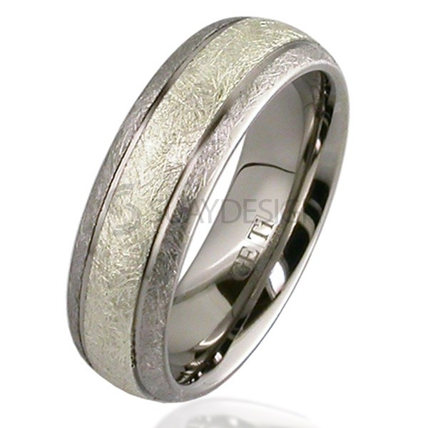 Women's White Gold & Titanium Ring 2210G-3MM9W