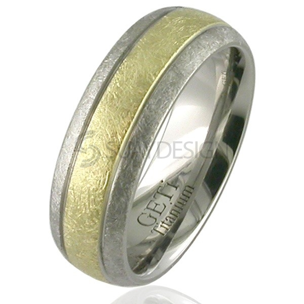 Women's Gold & Titanium Ring 2210G-3MM18KY