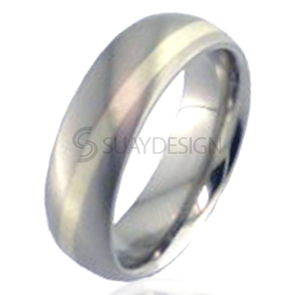 Women's White Gold Titanium Ring 2210WL-1.5MM9W