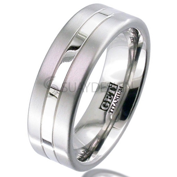 Women's Palladium Titanium Ring 2218G-1.5MMPAL