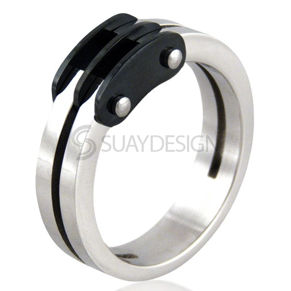 Women's Vent Noire Steel Ring