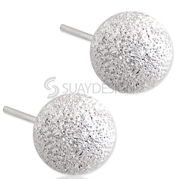 Women's Silver Globe Earrings
