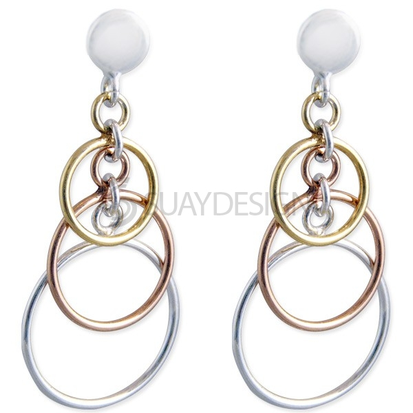 Women's Silver Halo Earrings