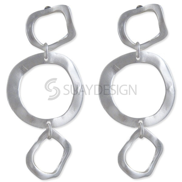 Women's Sphere Silver Earrings