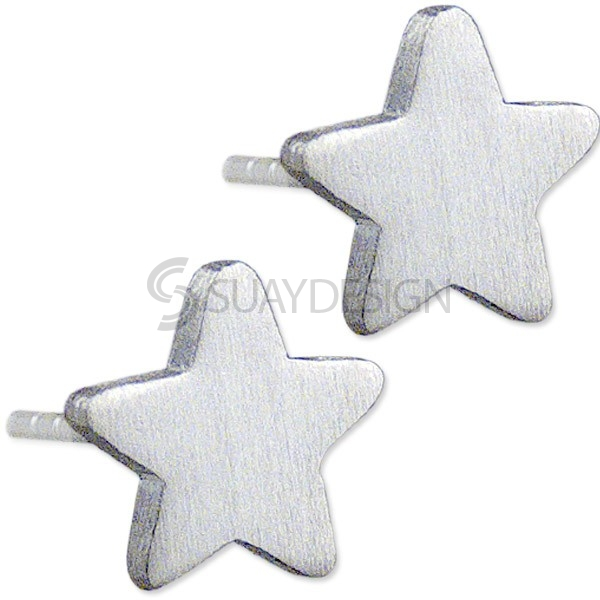 Women's Mini Satin Star Earrings