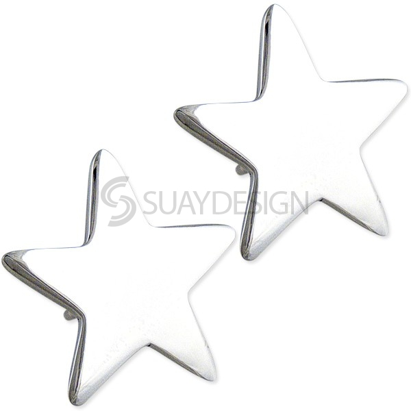 Women's Astral Silver Star Earrings