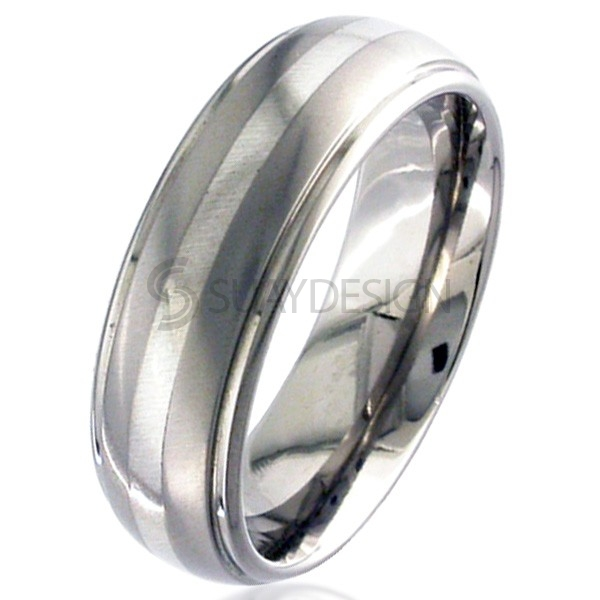 Women's White Gold & Titanium Ring 2205i-1.5MM9KW