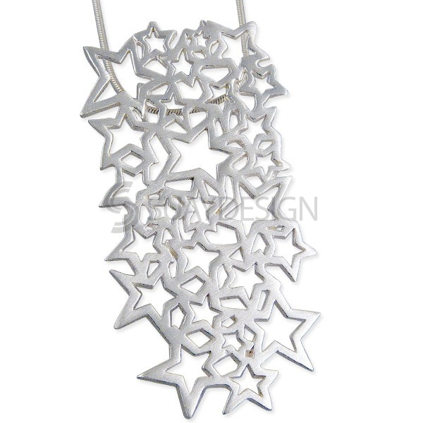Women's Celeste Satin Star Necklace