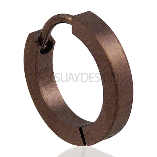 Coffee Slim Huggie Earring