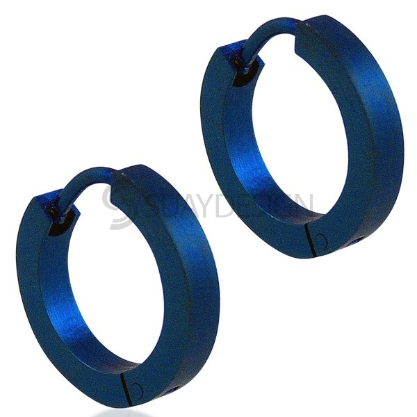 Women's Electric Blue Slim Earrings