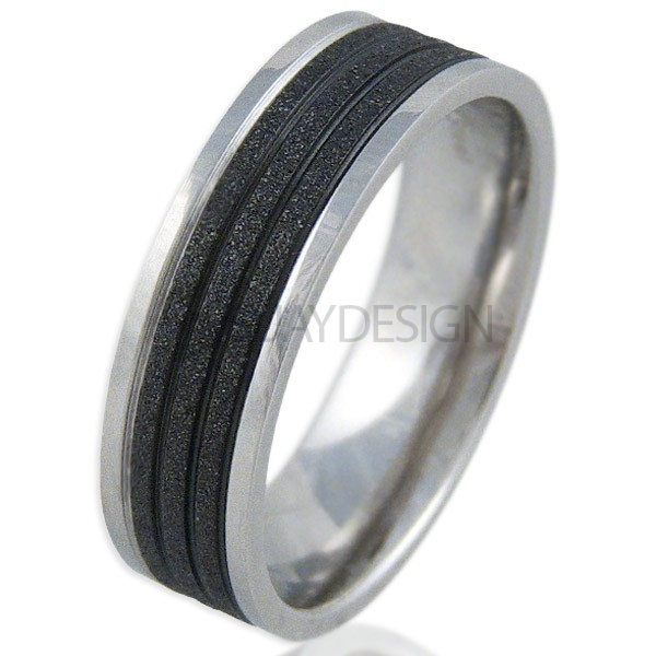 Women's Radiate Black Ring