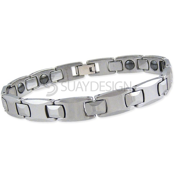 Polished Esteem Tungsten Bracelet