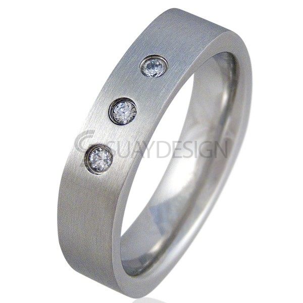 Women's Blast Steel Ring