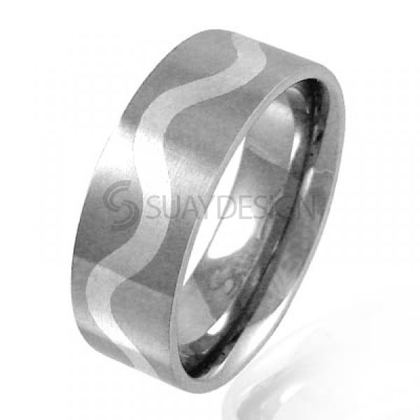 Women's Wave Stainless Steel Ring