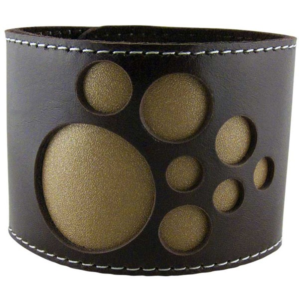 Women's Solar Brown Leather Cuff 3