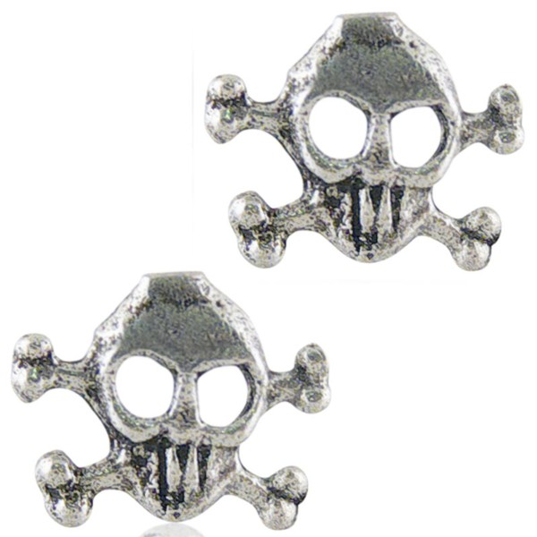 Women's Silver Skull Earrings 2