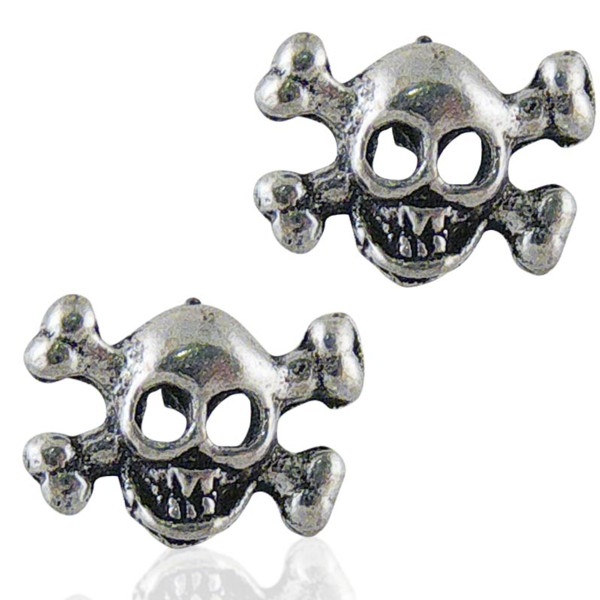 Women's Silver Skull Earrings 1