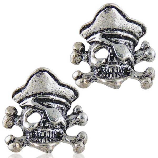 Women's Silver Skull Earrings 5