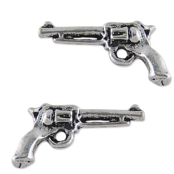 Women's Silver Handgun Earrings