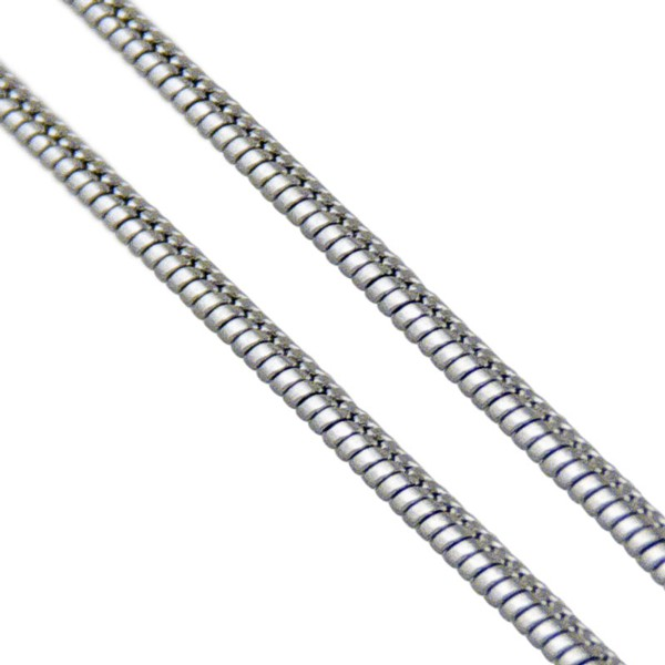 Women's Rounded Steel Snake Chain 1mm