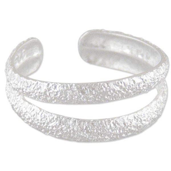 Women's Sparkly Silver Duo Toe Ring