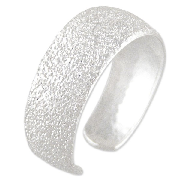 Women's Sparkly Silver Toe Ring 7