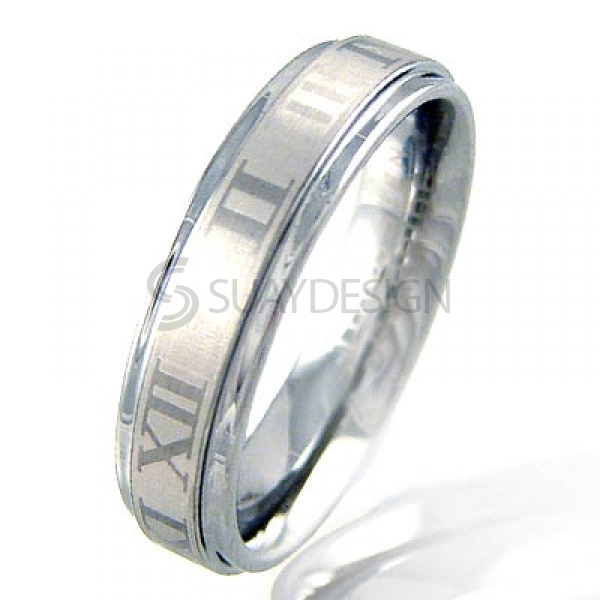 Women's Numero Tungsten Ring