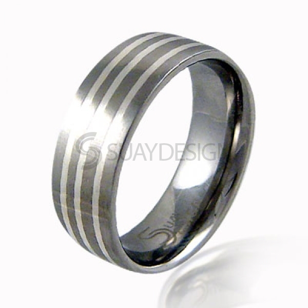 Women's Treble Steel & Silver Ring