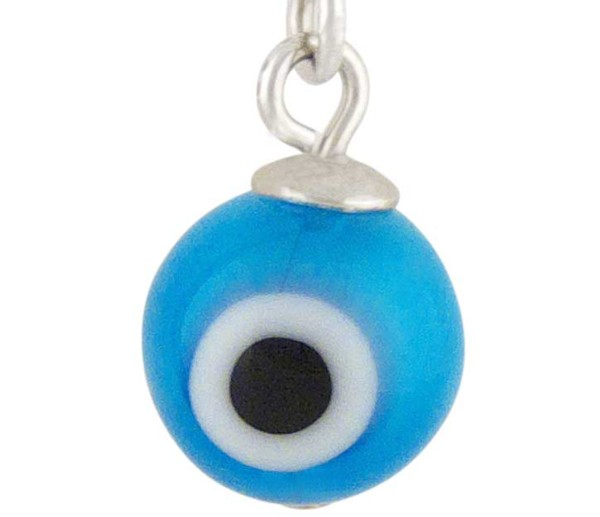 Women's Lucky Eye Silver Charm Lt Blue