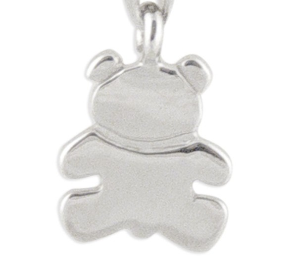 Women's Teddy Bear Silver Charm